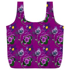 Flower Pattern Full Print Recycle Bags (l)  by Nexatart