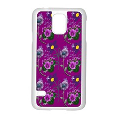 Flower Pattern Samsung Galaxy S5 Case (white) by Nexatart
