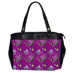 Flower Pattern Office Handbags (2 Sides)
