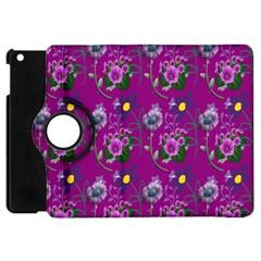Flower Pattern Apple iPad Mini Flip 360 Case by Nexatart