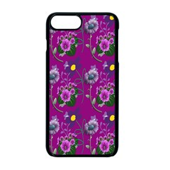 Flower Pattern Apple Iphone 7 Plus Seamless Case (black) by Nexatart