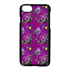 Flower Pattern Apple Iphone 7 Seamless Case (black) by Nexatart