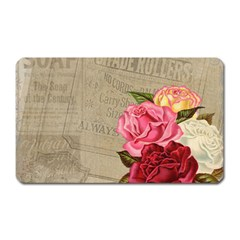 Flower Floral Bouquet Background Magnet (rectangular)