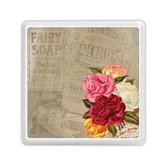 Flower Floral Bouquet Background Memory Card Reader (square)  by Nexatart