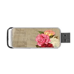 Flower Floral Bouquet Background Portable Usb Flash (one Side) by Nexatart