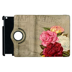 Flower Floral Bouquet Background Apple Ipad 2 Flip 360 Case