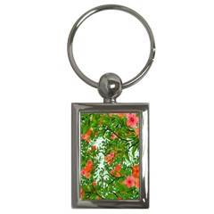 Flower Background Backdrop Pattern Key Chains (rectangle)