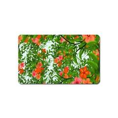 Flower Background Backdrop Pattern Magnet (name Card)