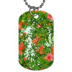 Flower Background Backdrop Pattern Dog Tag (two Sides)