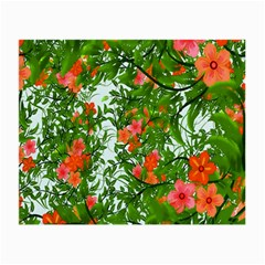 Flower Background Backdrop Pattern Small Glasses Cloth