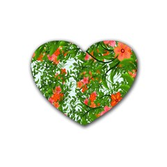Flower Background Backdrop Pattern Heart Coaster (4 Pack)