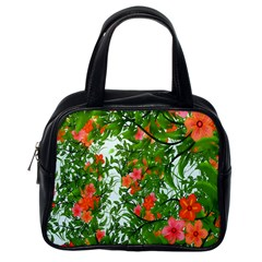 Flower Background Backdrop Pattern Classic Handbags (one Side)