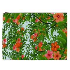 Flower Background Backdrop Pattern Cosmetic Bag (xxl)