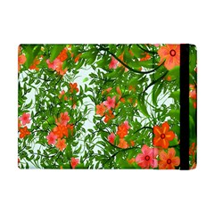 Flower Background Backdrop Pattern Apple iPad Mini Flip Case by Nexatart