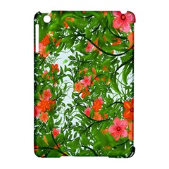Flower Background Backdrop Pattern Apple Ipad Mini Hardshell Case (compatible With Smart Cover)