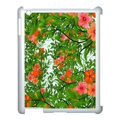 Flower Background Backdrop Pattern Apple Ipad 3/4 Case (white) by Nexatart