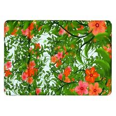 Flower Background Backdrop Pattern Samsung Galaxy Tab 8 9  P7300 Flip Case