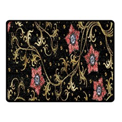 Floral Pattern Background Fleece Blanket (small)