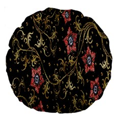 Floral Pattern Background Large 18  Premium Round Cushions by Nexatart