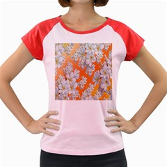 Flowers Background Backdrop Floral Women s Cap Sleeve T Shirt by Nexatart