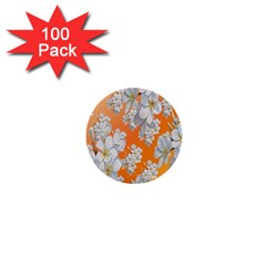 Flowers Background Backdrop Floral 1  Mini Buttons (100 Pack)
