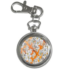 Flowers Background Backdrop Floral Key Chain Watches by Nexatart