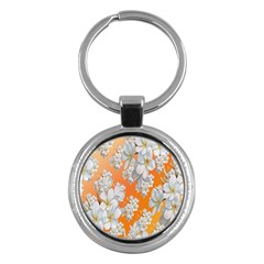 Flowers Background Backdrop Floral Key Chains (round)