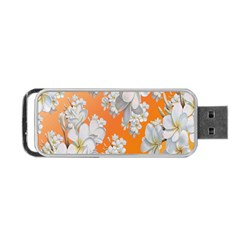 Flowers Background Backdrop Floral Portable Usb Flash (two Sides)