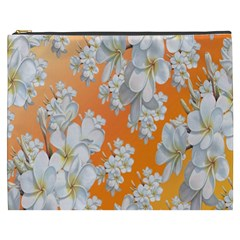 Flowers Background Backdrop Floral Cosmetic Bag (xxxl)