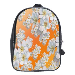 Flowers Background Backdrop Floral School Bags (xl)