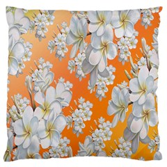 Flowers Background Backdrop Floral Large Flano Cushion Case (one Side) by Nexatart