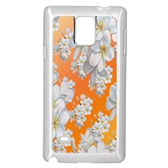 Flowers Background Backdrop Floral Samsung Galaxy Note 4 Case (white)