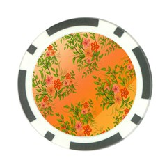 Flowers Background Backdrop Floral Poker Chip Card Guard by Nexatart