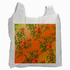 Flowers Background Backdrop Floral Recycle Bag (one Side) by Nexatart
