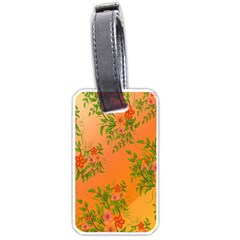 Flowers Background Backdrop Floral Luggage Tags (two Sides)