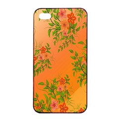 Flowers Background Backdrop Floral Apple Iphone 4/4s Seamless Case (black) by Nexatart