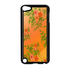 Flowers Background Backdrop Floral Apple Ipod Touch 5 Case (black)