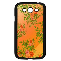 Flowers Background Backdrop Floral Samsung Galaxy Grand Duos I9082 Case (black)