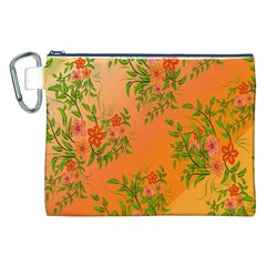 Flowers Background Backdrop Floral Canvas Cosmetic Bag (xxl) by Nexatart