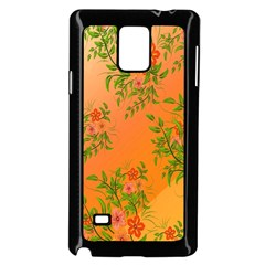 Flowers Background Backdrop Floral Samsung Galaxy Note 4 Case (black)