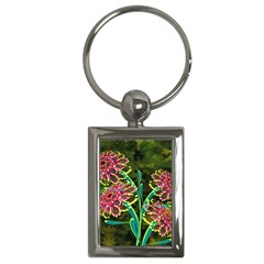 Flowers Abstract Decoration Key Chains (rectangle)  by Nexatart