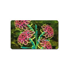 Flowers Abstract Decoration Magnet (name Card)