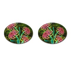 Flowers Abstract Decoration Cufflinks (oval)