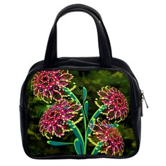 Flowers Abstract Decoration Classic Handbags (2 Sides)