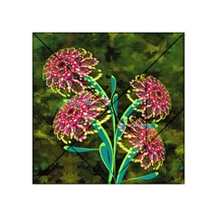 Flowers Abstract Decoration Acrylic Tangram Puzzle (4  X 4 )