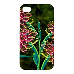 Flowers Abstract Decoration Apple Iphone 4/4s Premium Hardshell Case by Nexatart