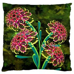 Flowers Abstract Decoration Large Cushion Case (one Side)