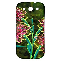 Flowers Abstract Decoration Samsung Galaxy S3 S Iii Classic Hardshell Back Case