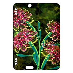 Flowers Abstract Decoration Kindle Fire Hdx Hardshell Case