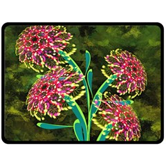 Flowers Abstract Decoration Double Sided Fleece Blanket (large)